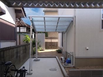 明るくデザイン性の高いテラス屋根でとても気に入っています。